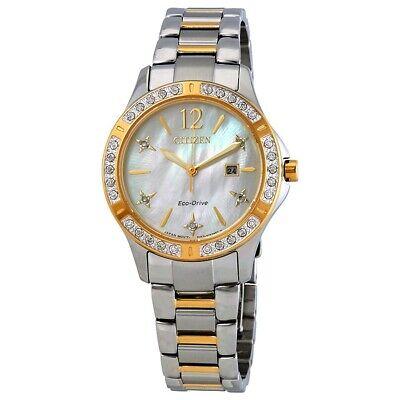Citizen Eco-Drive Women's Elektra Diamond Accent MOP Dial 32mm Watch EW2514-59D