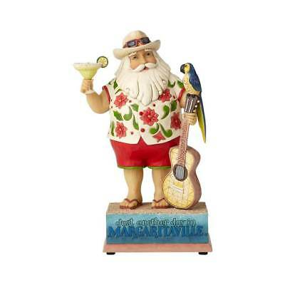 Jim Shore Margaritaville MUSICAL SANTA WITH GUITAR-STRUMMIN WITH SANTA 6001535