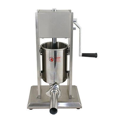 3l Vertical Sausage Stuffer Meat Maker Filler 7lb Stainless Steel Commercial New