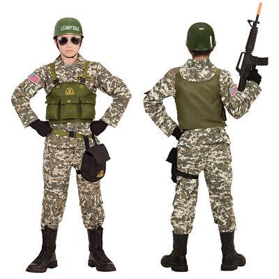 TÜM HELM Karneval Militär Armee US Army Soldaten Jungen 9684 (Navy Seal Kinder Kostüm)