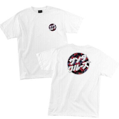 Santa Cruz Dot (Santa Cruz Japanese Blossom Classic Dot T Shirt Tee Skateboard White M L XL XXL )