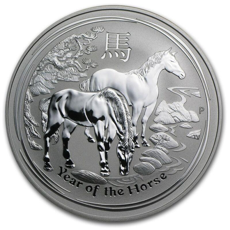 2014 Australia 1 oz Perth .999 Silver Lunar Horse (from mint roll, in capsule)