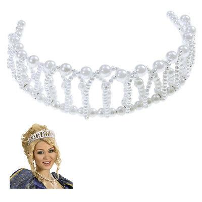 PRINZESSIN PERLEN DIADEM Karneval Mittelalter Königin Krone Kostüm Schmuck (Kostüm Krone Diadem)