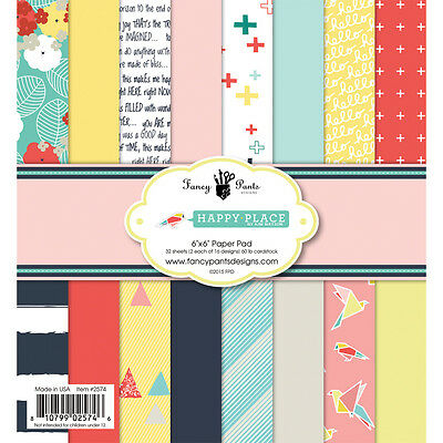 Fancy Pants Designs Happy Place Collection  6 x 6 Scrapbook Paper Pad (Fancy Pants Scrapbook Paper)