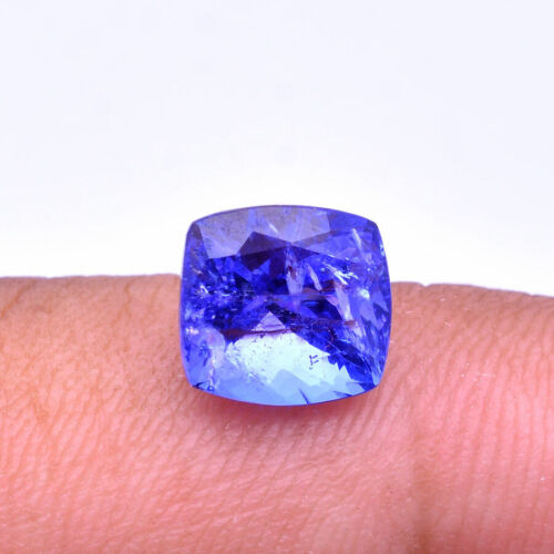 Natural Tanzanite Vibrant Blue Excellent Quality Certified Gemstone ~ 2.36 Cts
