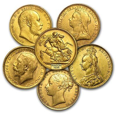 SPECIAL PRICE! Great Britain Gold Sovereign Avg Circ (Random) - SKU #152287