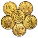 Great Britain Gold Sovereign Avg Circ (Random) - SKU #152287