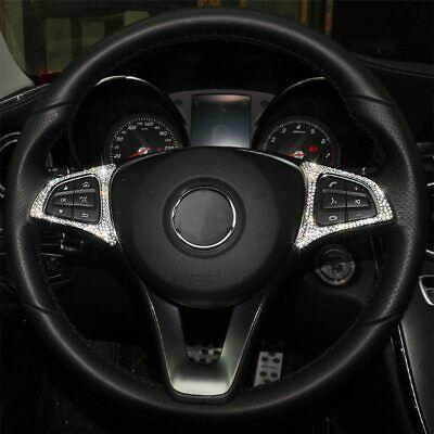 Passend zu Mercedes A B C E GLK GLA CLA Strass Glitzer Lenkrad Tasten Blende