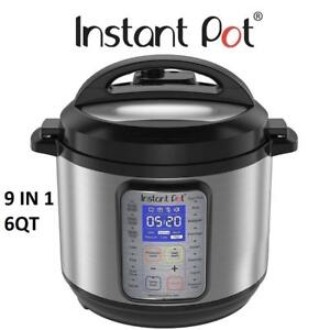NEW INSTANT POT PRESSURE COOKER IP-DUO PLUS60 189931852 9 IN 1 STAINLESS STEEL BLACK 6QT