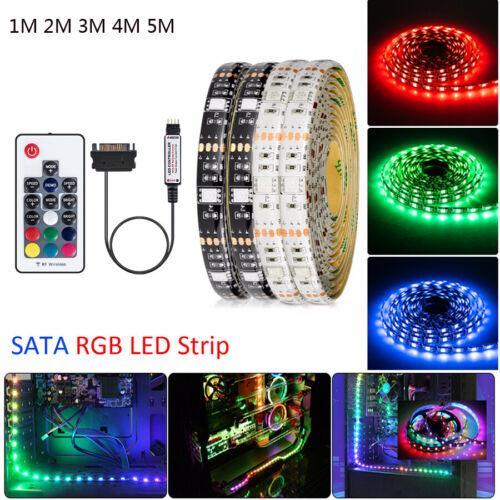 1-5M SATA LED Light Flexible Tape 5050 3528 RGB LED Strip Wa