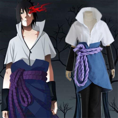 1 Set Anime Naruto Uchiha Sasuke 3th Cosplay Costumes Halloween Coat Pants Suit