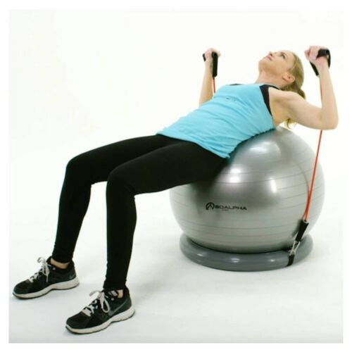 Soalpha Exercise Ball With Resistance Bands Bundle Pilates Y
