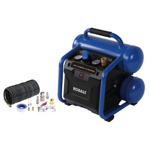 Kobalt 2-Gallon Air Compressor Portable Electric Twin Stack Oil Free Pump Tools