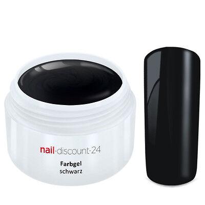 Color UV Gel FARBGEL SCHWARZ 5ml Frenchgel Modellage Nail Naildesign Nägel