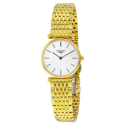 Longines La Grande Classique White Dial Gold-tone  Ladies Watch L4.209.2.12.8