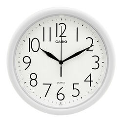 Casio White Dial Wall Clock IQ-01-7