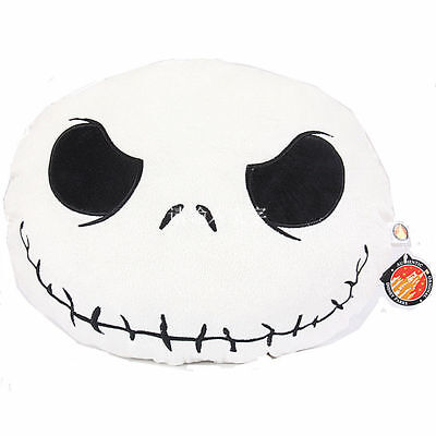 Nightmare Before Christmas Pillow (Jack Skellington Face Plush Pillow Cushions Nightmare Before Christmas)