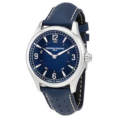 Frederique Constant Blue Leather Mens Horological Smart Watch FC-282AN5B6
