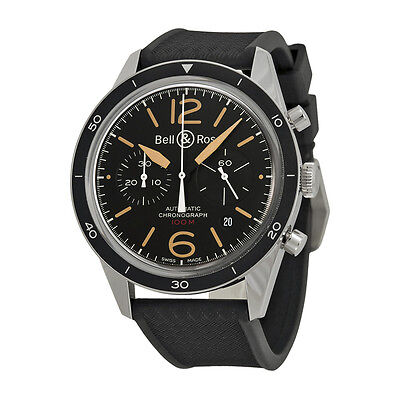 Bell and Ross Vintage Sport Heritage Black Dial Automatic Mens Watch