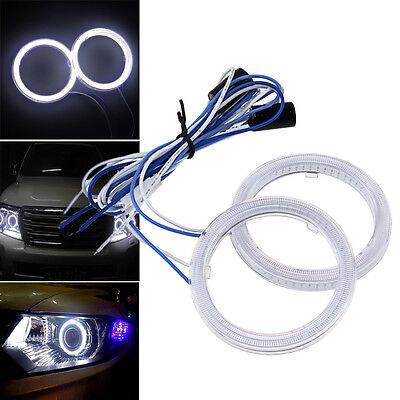 2x Angel Eyes COB Halo Ring Weiß 60mm-110mm LED SMD Scheinwerfer Fog Licht