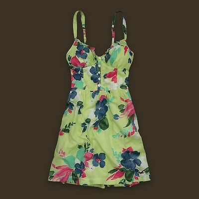 Hollister by Abercrombie Floral Button Down Logo Summer Dresses XS S M L