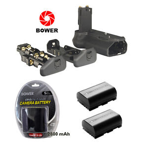 Grip FOR CANON BG-E14 EOS 70D BOWER XBGC70D+2 Batteries LP-E6 2800 mAh