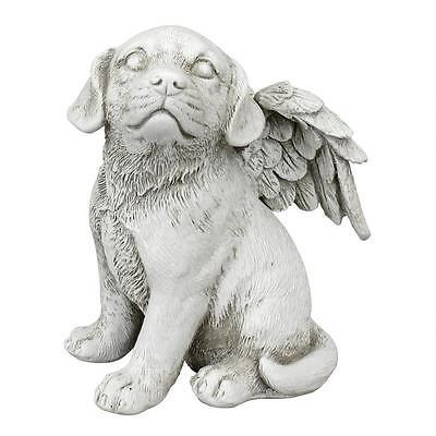 Angelic Dog Canine Memorial Statue Commemorative Pet Sculpture - Medium