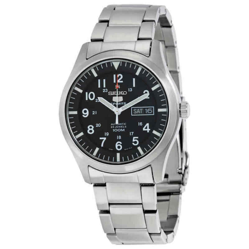 Seiko-5-Automatic-Black-Dial-Stainless-Steel-Men-Watch-SNZG13