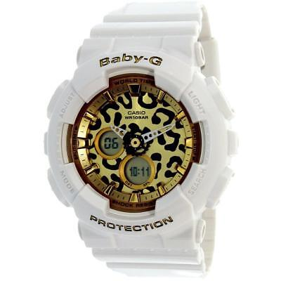 Casio Baby-G Women's BA120LP-7A2 Leopard Print Dial White Resin 43.5mm Watch