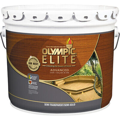 Olympic Semi Transparent Stain (Olympic Elite Advanced Stain+Sealant Oil Semi-Transparent Tan 3-Gallon)