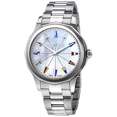 Corum Admiral's Cup White Mother of Pearl Dial Ladies Watch 020.201.20/V200 PN22