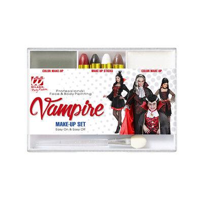 KINDERSCHMINKE Vampir Halloween Karneval Party Kostüm Zubehör Make Up Set  02406