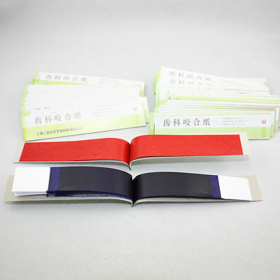 Dental Articulating Paper Practical Soft Thin Strips Red Blue 10 Sheet 20 Book