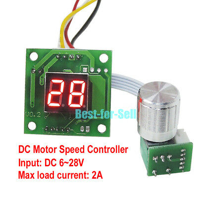 Digital Led Dc 6v 9v 12v 24v 2a Pwm Motor Pump Speed Controller Regulator Driver