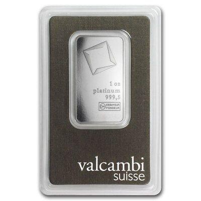 SPECIAL PRICE! 1 oz Valcambi Platinum Bar In Assay - eBay - SKU #93547