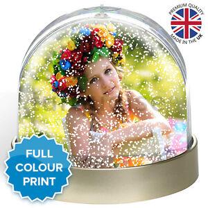 Personalised Photo Snow Globe Dome Glitter Shaker Ornament   Metallic Finish