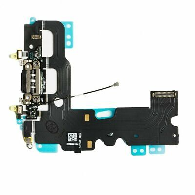 For iPhone 7 Charging Port - Replacement Charger Flex Cable USB Dock Mic - Black