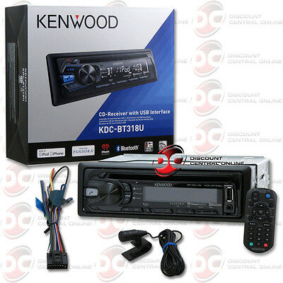 KENWOOD KDC-BT318U 1DIN CAR AUDIO MP3 CD PLAYER W/ BLUETOOTH & PANDORA CONTROL  on Rummage