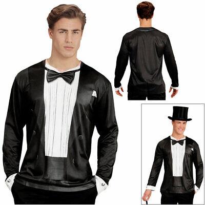 HERREN 3D SMOKING SHIRT Junggesellenabschied Kostüm Anzug Party Bedrucktes - Smoking Anzug Kostüm