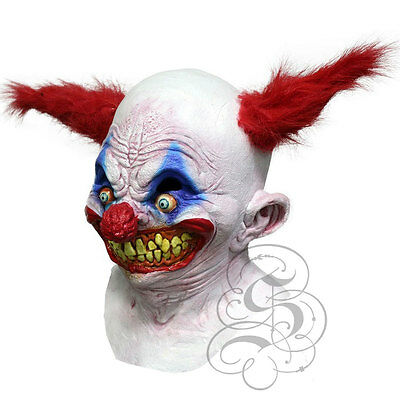 Halloween Latex 'Jingles The Creepy Clown' mit Rotem Haare Horror Party