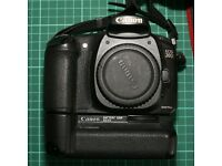 Canon 20d with lens, Battery holder and flashgun