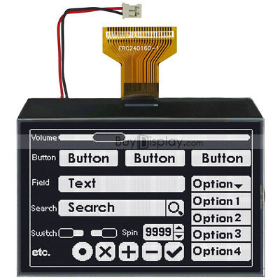 3.4black Serial Spi 240x160 Graphic Lcd Module Display With St7586tutorial