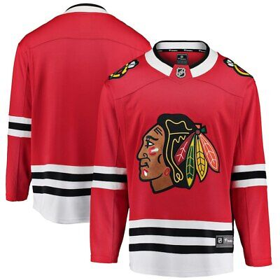 NHL Trikot Jersey Chicago Blackhawks Breakaway Fanatics Eishockey Home rot Chicago Blackhawks Jersey Away