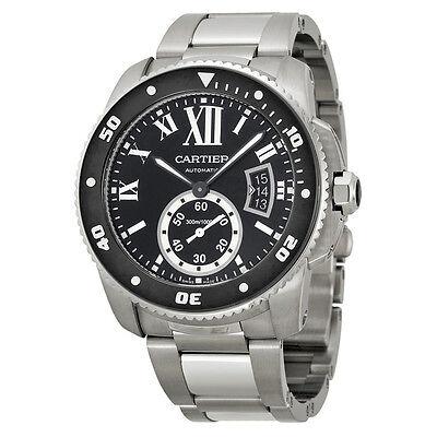 Cartier Calibre de Cartier Diver Black Dial Steel Mens Watch W7100057