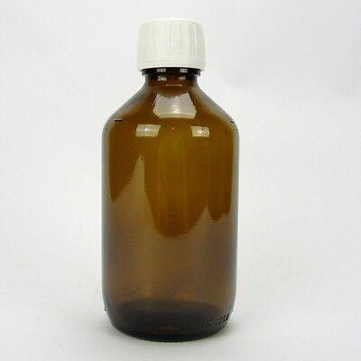 5x Braunglasflasche Apothekerflasche Alcoa Verschluss Originalitätsring 250 ml
