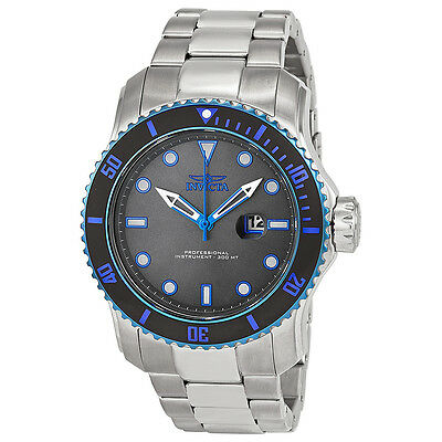 Invicta Pro Diver Grey Dial Stainless Steel Mens Watch 15077