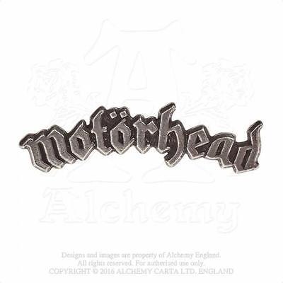 ALCHEMY ROCKS - MOTORHEAD - LOGO PEWTER PIN BADGE METAL LEMMY