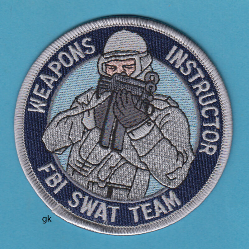 FBI SWAT TEAM WEAPONS INSTRUCTOR SHOULDER  PATCH