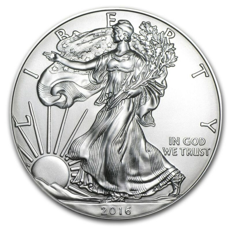 2016 - 1 oz American Silver Eagle Coin - One Troy oz .999 Bullion