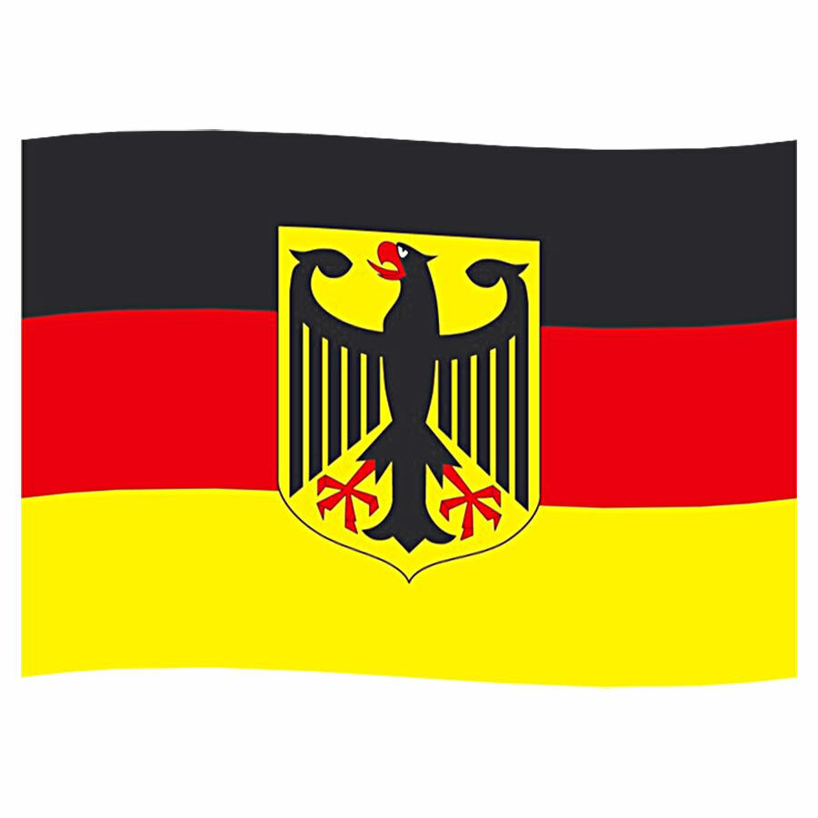 Deutschland BRD National Fahne Flagge Adler 150 x 90 Hissfahne Garten WM EM Ösen